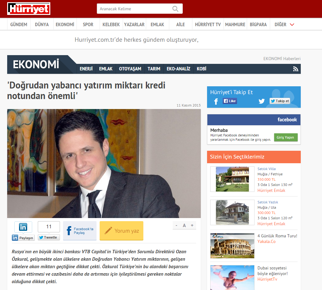 HURRIYET INTERVIEW / 11.11.2013